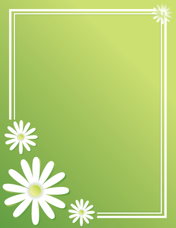 Spring Daisy Border Background for Poster Ilustrace