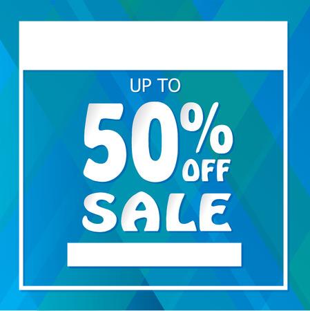50% Off Sale Template Reklamní fotografie - 96761312