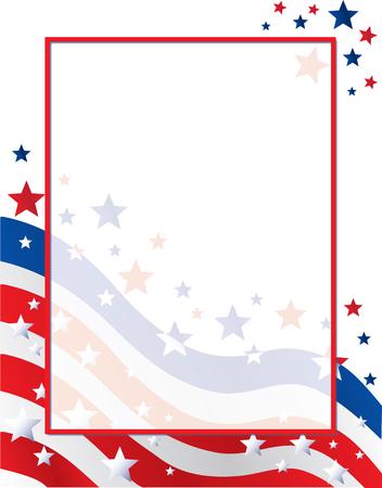 American Flag Border Background Ilustrace