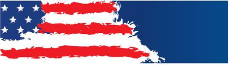 American Flag Banner Ilustrace