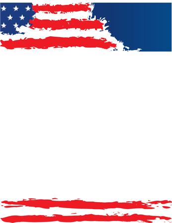 USA Flag Poster Template Ilustrace