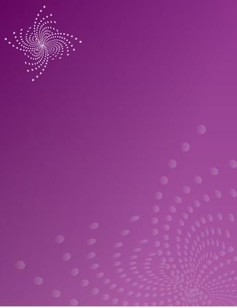Purple Flower Swirl Flair Background