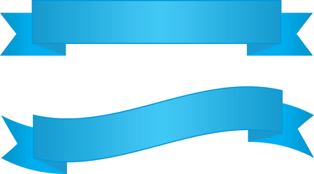 Two Blue Ribbon Banners