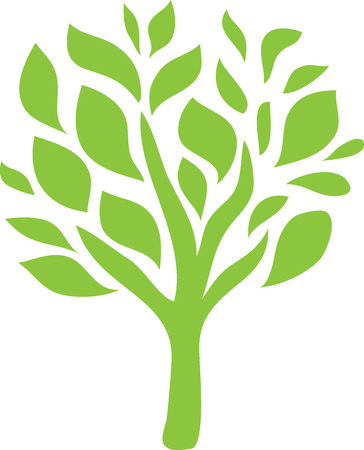 Tree Logo Line Art