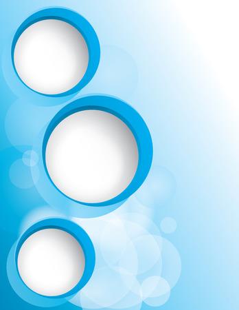 3D Blue Circle Flyer Reklamní fotografie - 97499869