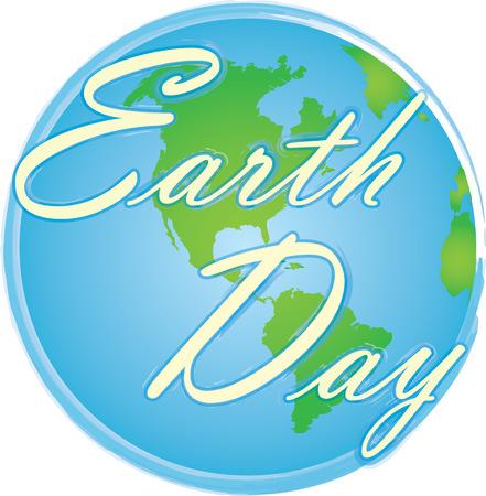Logotipo del día de la tierra del globo Foto de archivo - 99751504