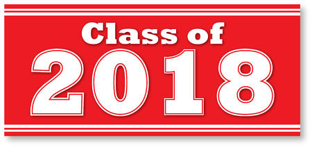 Red Class of 2018 Banner