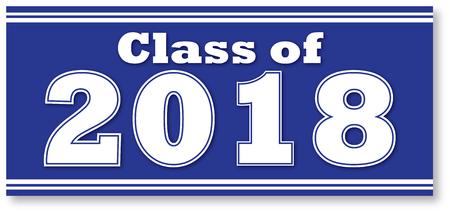Blue Class of 2018 Banner 向量圖像