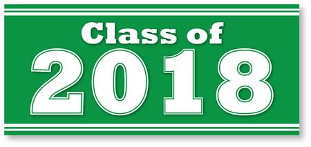 Green Class of 2018 Banner