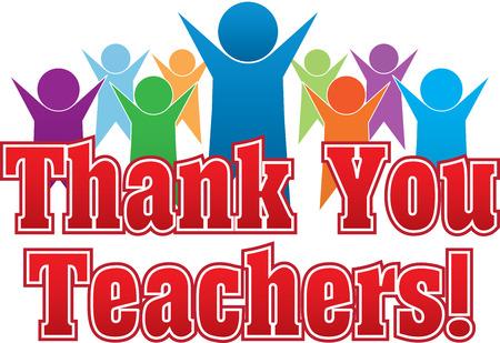 Grazie Insegnanti Vettoriali