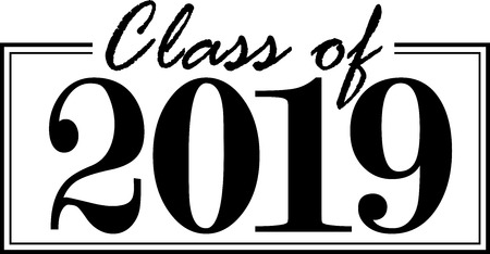Class of 2019 Graphic 스톡 콘텐츠 - 105061850