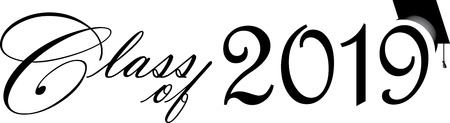 Scénario de classe 2019 avec casquette de graduation