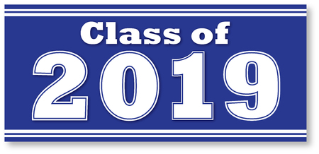 Blue Class of 2019 Banner