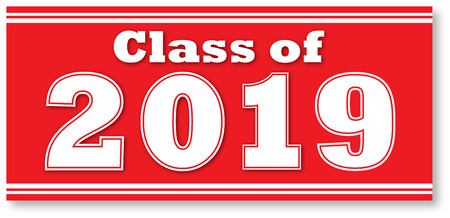 Red Class of 2019 Banner