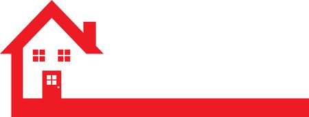 Red Real Estate Logo 일러스트