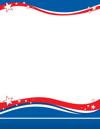 United States flag border poster template