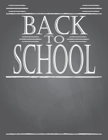 Back to School Chalkboard Template Ilustrace