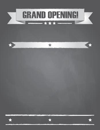 Grand Opening Sign on Chalkboard Reklamní fotografie - 106355535