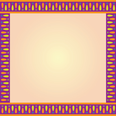 Square Multi Color Decorative Border Template