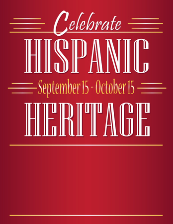Celebrate Hispanic Heritage Month Ilustrace