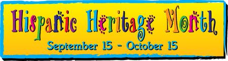 Hispanic Heritage Month Banner 写真素材 - 122787348