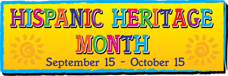 National Hispanic Heritage Month Banner Иллюстрация