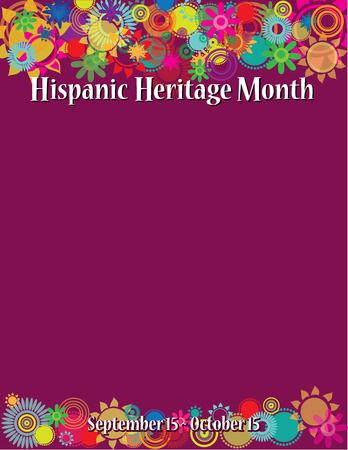 Plantilla de póster del mes de la herencia hispana