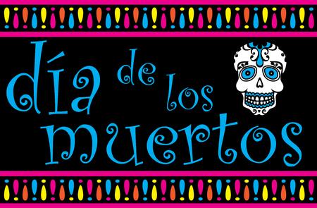 Dia de los Muertos Banner Illustration
