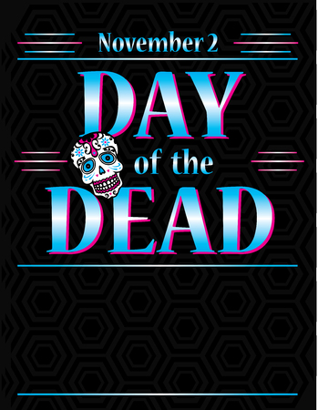 Day of the dead Poster Template Archivio Fotografico - 122787352
