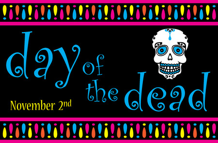 Day of the dead banner Standard-Bild - 122787353