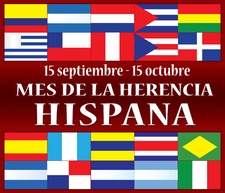 Hispanic Heritage Month 向量圖像