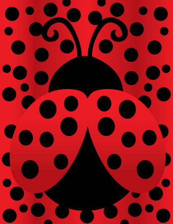Lady Bug Background 스톡 콘텐츠 - 122787358