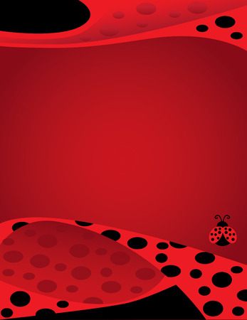 Lady Bug Poster Background Template