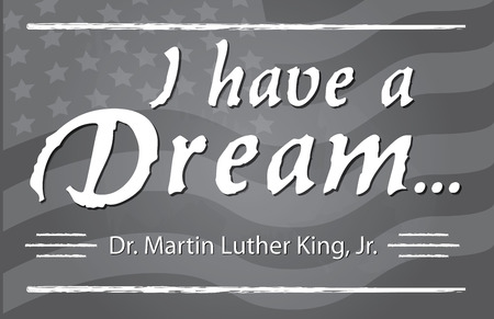 I have a Dream half page banner Illustration