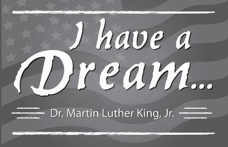 I have a Dream half page banner Illustration