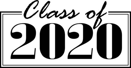 Class of 2020 boxed in Иллюстрация