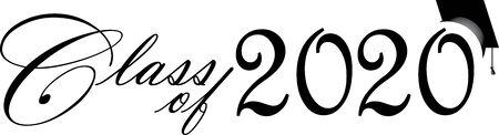 Graduating Class of 2020 Script Illustration