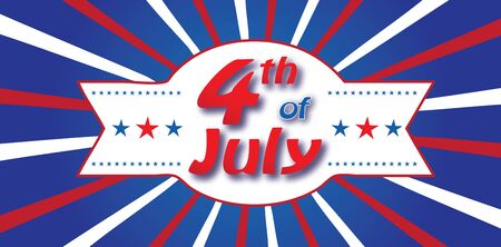 4th of July Banner Ilustrace