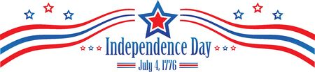 Independence Day July 4th Banner Stars and Stripes