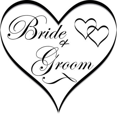 Brida and Groom Wedding Clip art