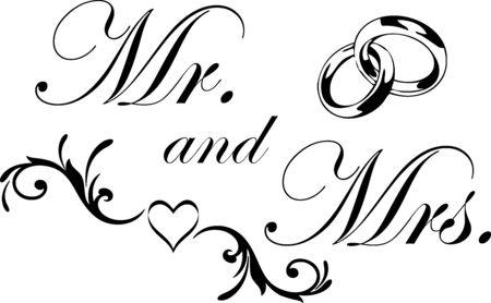 Mr. and Mrs. Wedding Clip Art