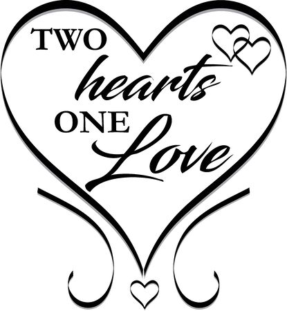 Two Hearts One Love Wedding Design