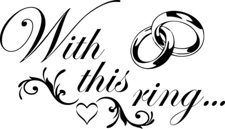 With this ring Wedding Design Illustration