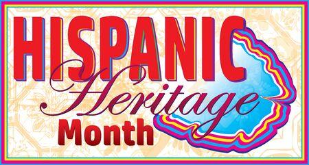 Hispanic Heritage Month  イラスト・ベクター素材