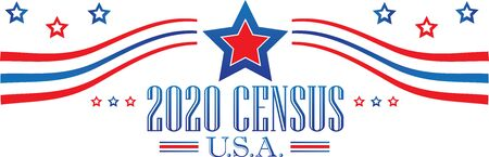 2020 Census Banner Stock Illustratie