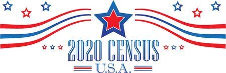 2020 Census Banner Иллюстрация