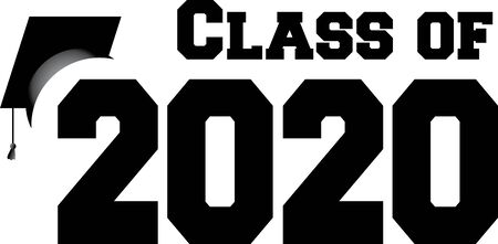 Class of 2020 with Graduation Cap