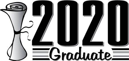 2020 Graduate 向量圖像