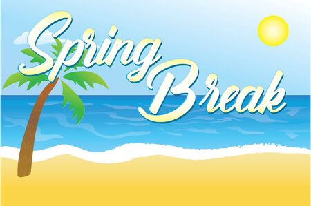 Spring Break Background 일러스트
