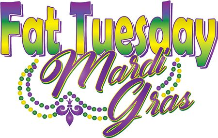 Fat Tuesday Mardi Gras Illustration